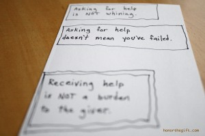 Asking for help doesn't mean you've failed.