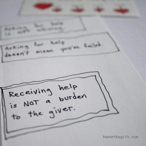 Receiving help can be a gift to the giver and givee.
